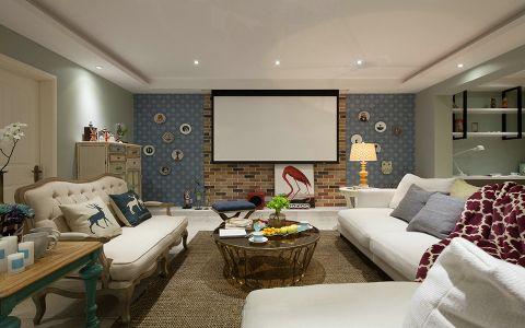 现代简约风格130平米楼房室内装修效果图