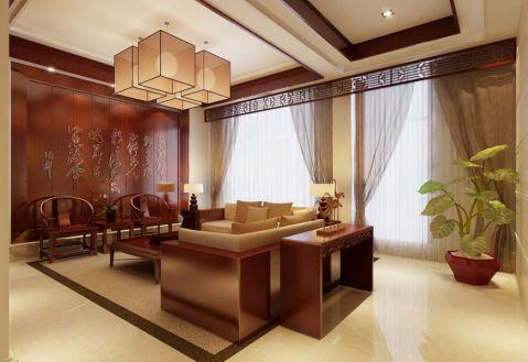 古典风格90平米两室两厅新房装修效果图