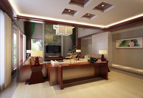 客厅背景墙古典风格装饰图片