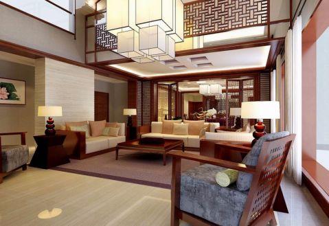 客厅窗帘古典风格装修设计图片