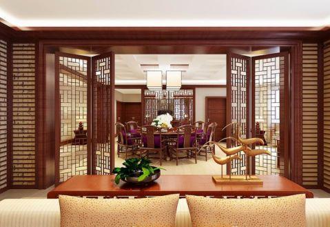 餐厅推拉门古典风格装潢设计图片