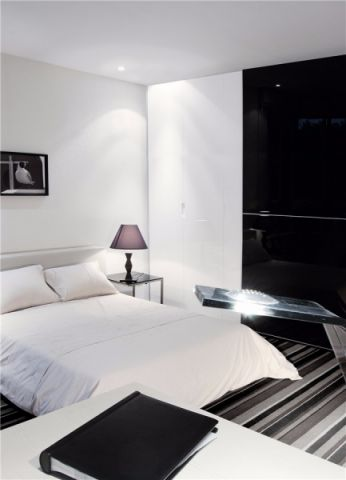 卧室背景墙简欧风格装潢图片