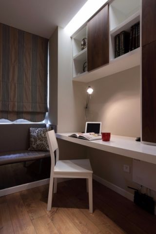 杭州景瑞申花壹号院89平二居室现代风格装修效果图