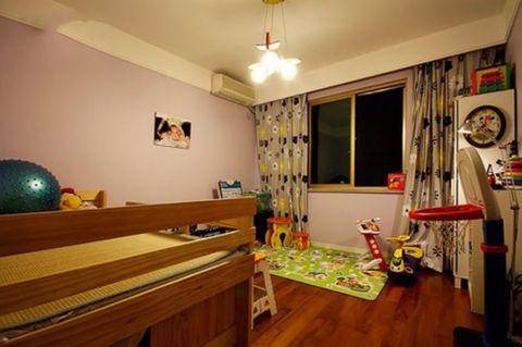 儿童房窗帘简约风格装修设计图片