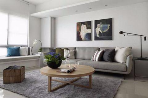 客厅茶几简欧风格装潢效果图