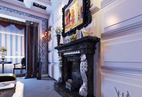 客厅彩色窗帘欧式风格装潢图片