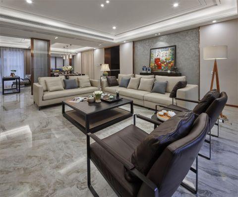 客厅茶几新中式风格效果图