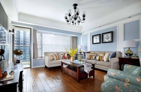 客厅茶几美式风格装潢图片