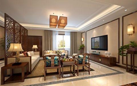 中式风格140平米四室两厅室内装修效果图
