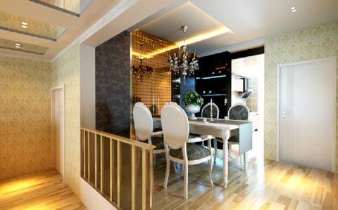 餐厅吊顶现代简约风格装潢效果图