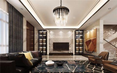 混搭风格330平米别墅室内装修效果图