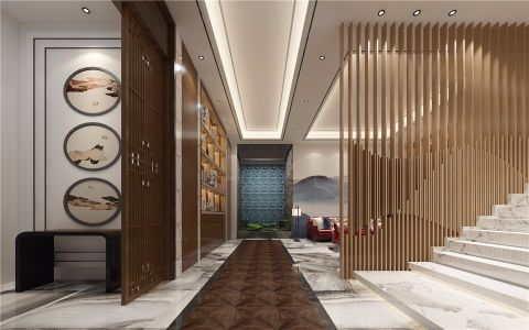 客厅走廊混搭风格装饰设计图片