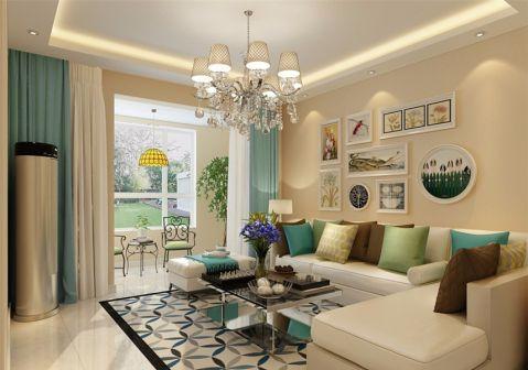 客厅窗帘简约风格装潢图片