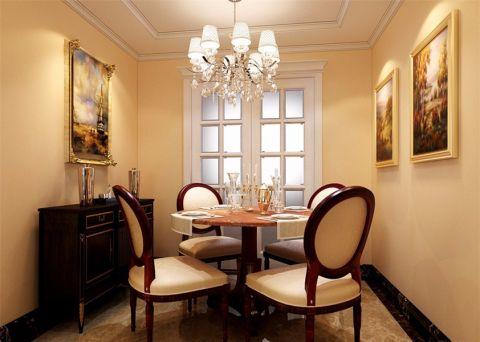 餐厅照片墙简欧风格装潢设计图片