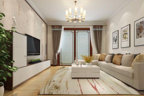 中式风格90平米三室两厅室内装修效果图