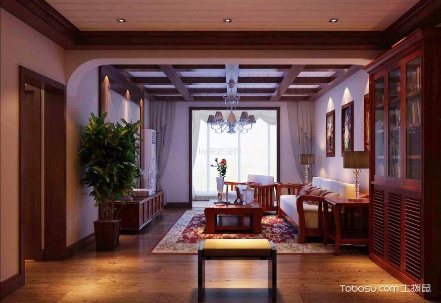 客厅灰色窗帘新中式风格装修图片