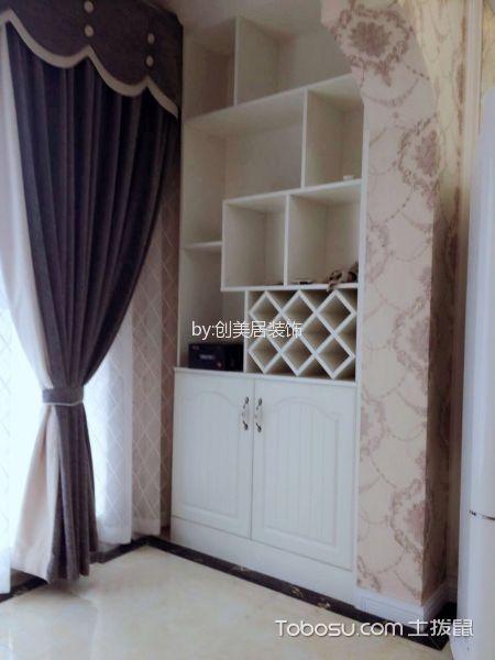 阳台紫色窗帘简欧风格装饰图片