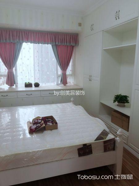卧室白色飘窗简欧风格装饰设计图片