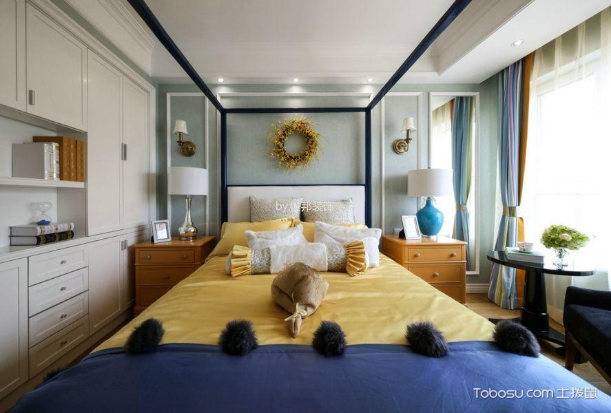 卧室白色床混搭风格装修设计图片
