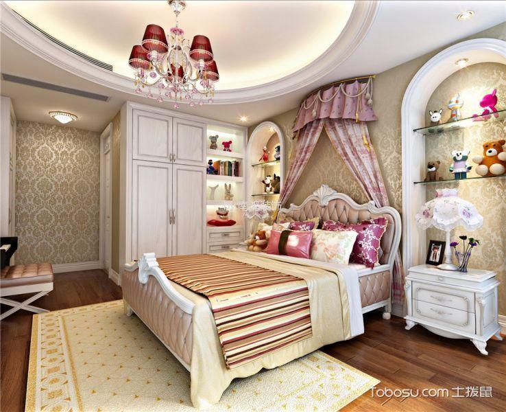 卧室白色床头柜新中式风格装潢图片
