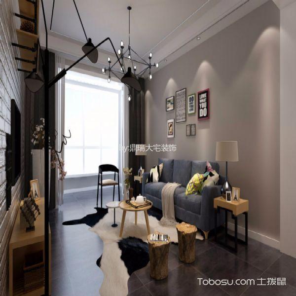 6.1万预算110平米两室一厅装修效果图