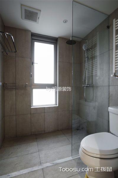 卫生间灰色背景墙现代风格装饰效果图