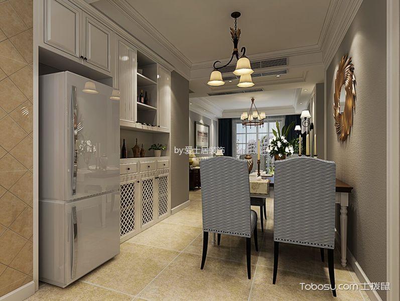 厨房米色吊顶美式风格装修图片