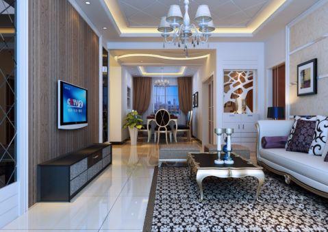客厅简欧风格装潢图片