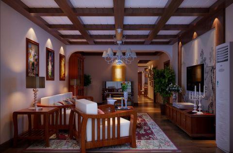 客厅照片墙新中式风格装饰图片