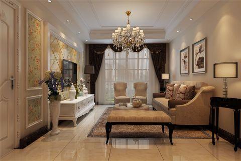 客厅窗帘简欧风格效果图