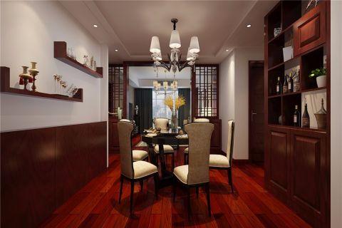 餐厅博古架新中式风格装饰设计图片