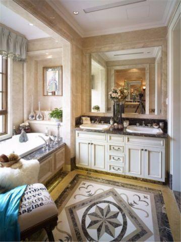 浴室洗漱台欧式风格装潢图片