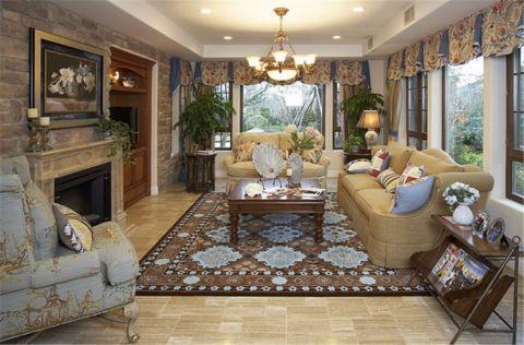 客厅沙发欧式风格装修设计图片
