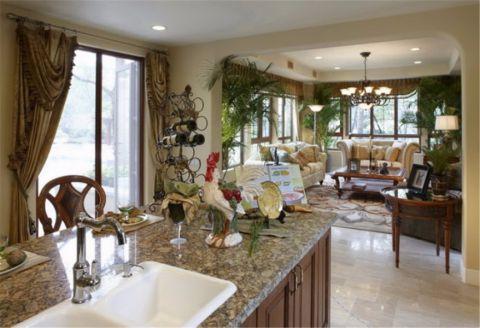 厨房厨房岛台欧式风格装饰设计图片