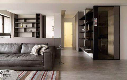 简约风格90平米两室两厅房子装修效果图
