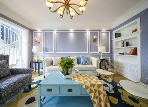 混搭风格130平米三室两厅室内装修效果图