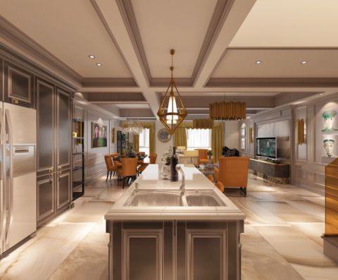 古典风格120平米复式楼新房装修效果图
