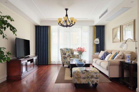 美式风格140平米三室两厅室内装修效果图