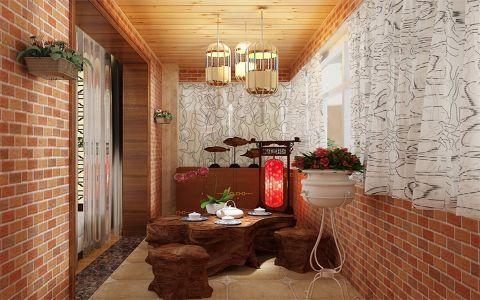 翠竹园新中式三居室装修效果图
