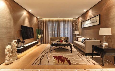 新中式风格130平米公寓新房装修效果图