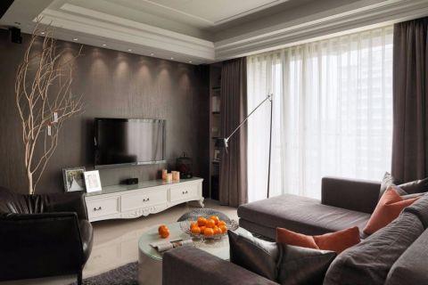 客厅窗帘简欧风格装饰图片