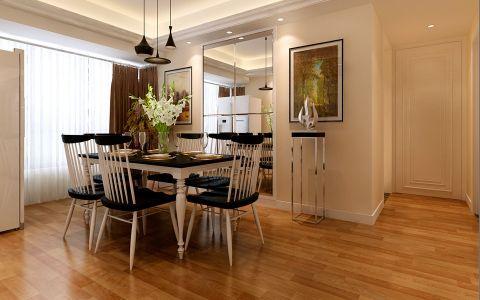 餐厅餐桌现代简约风格效果图