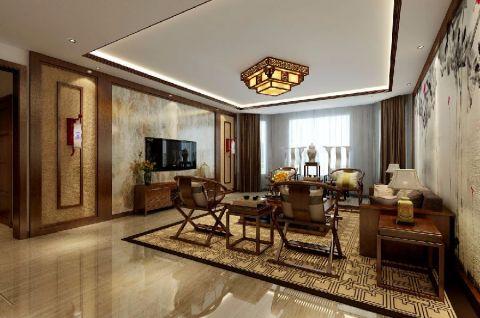 中式风格180平米套房新房装修效果图