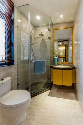 卫生间地砖混搭风格装潢图片