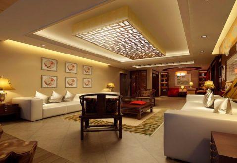 客厅黄色照片墙新古典风格装修效果图