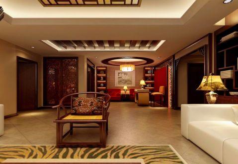客厅黄色地砖新古典风格装潢效果图
