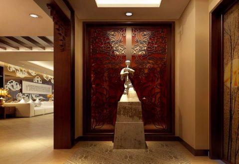 玄关背景墙新古典风格装修图片