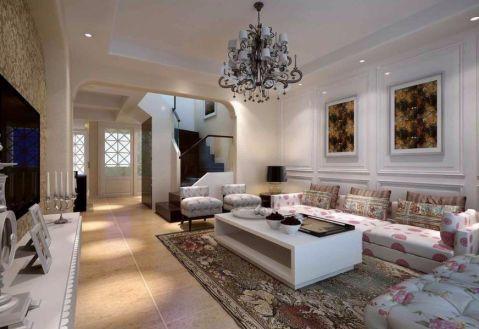 客厅白色照片墙欧式风格装潢图片