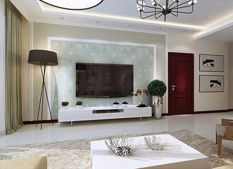 客厅电视柜简约风格装修图片