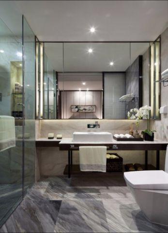 卫生间洗漱台中式风格装潢效果图